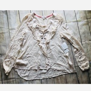 Coco+Jameson lace up top NWT